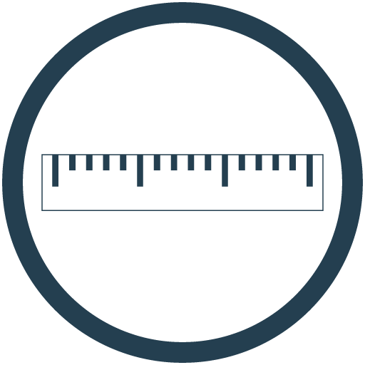 Blue ruler icon